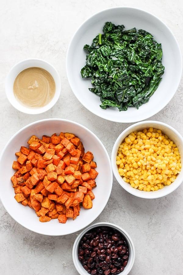 healthy sweet potato taco ingredients