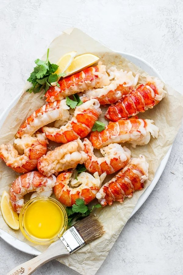 poached lobster tails