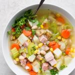 Easy Leftover Ham Bone Soup