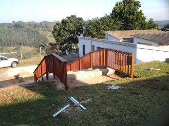 Wooden balustrade