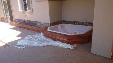 Wooden Sun Deck and Jacuzzi Cladding Kloof, Durban July 2014 1