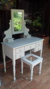 Upcycleded Dressing Table and Chair