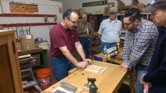 Mike Pekovich of Fine Woodworking magazine doing a demonstration on card scrapers. It was nice to chat with Mike for a bit after his demonstration.
