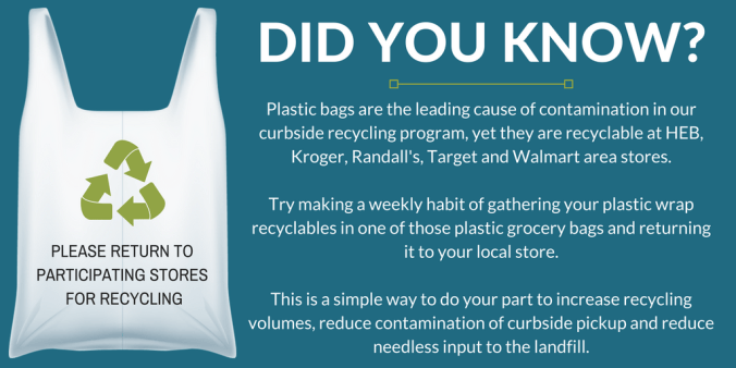 Remember to recycle only clean, dry plastic bags and film. Examples include-.png