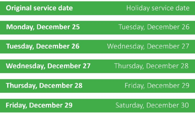 solid waste schedule DEC 17