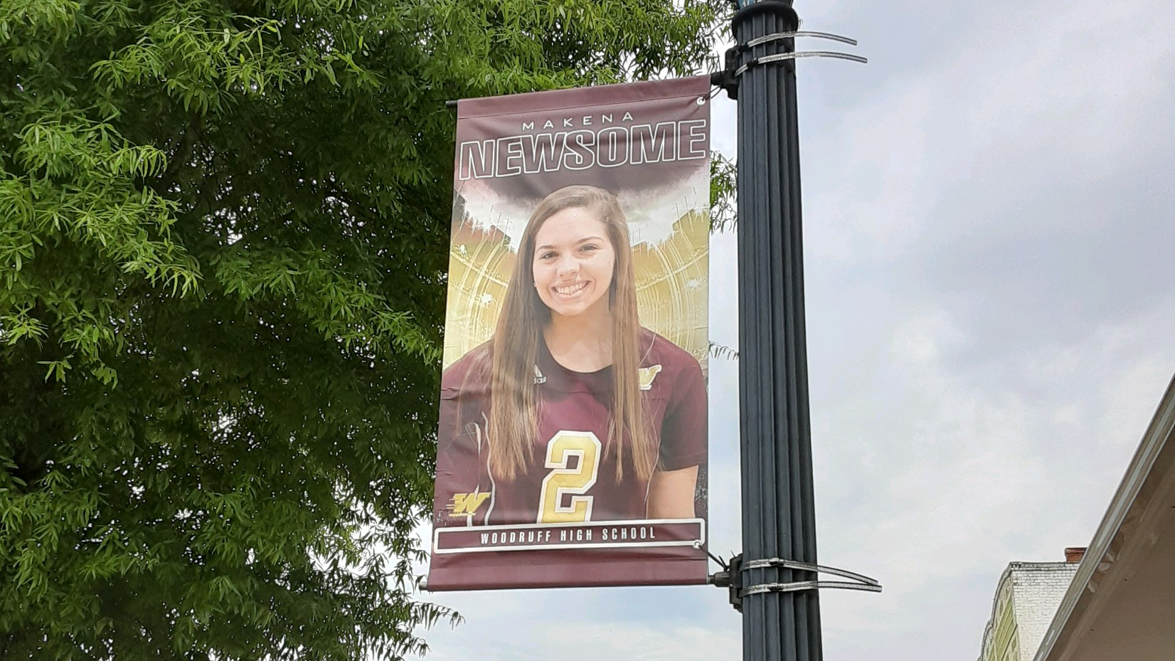 City of Woodruff Honors Senior Athletes with Downtown Flag Display