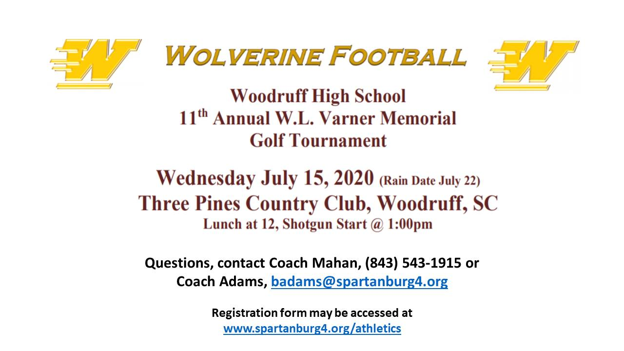 W.L. Varner Memorial Golf Tournament Raises Money for Wolverine Football