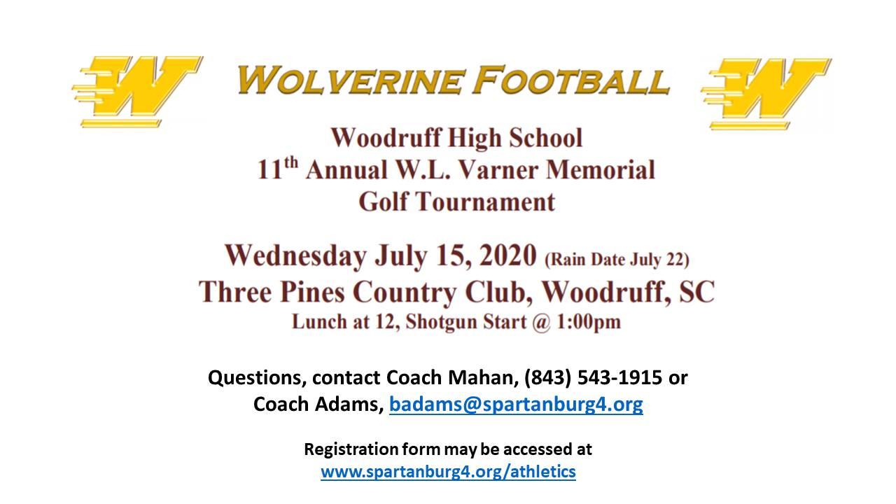 W.L. Varner Memorial Golf Tournament Raises Money for Wolverine Football