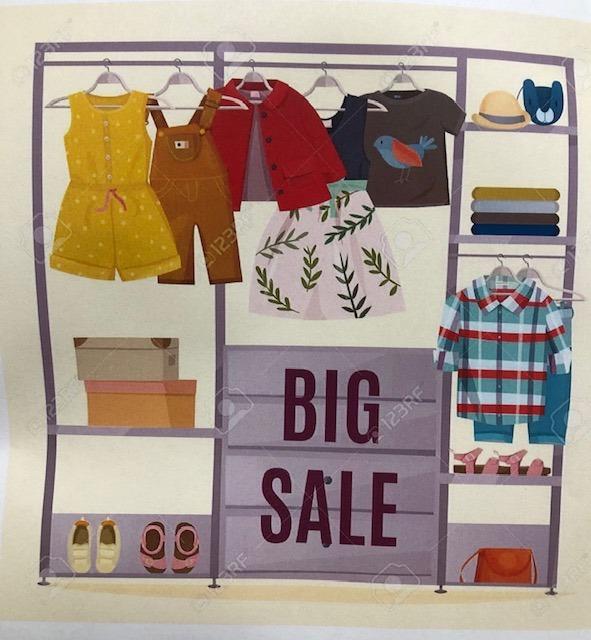 Helping Hands Clothes Closet Sale Saturday Oct. 3