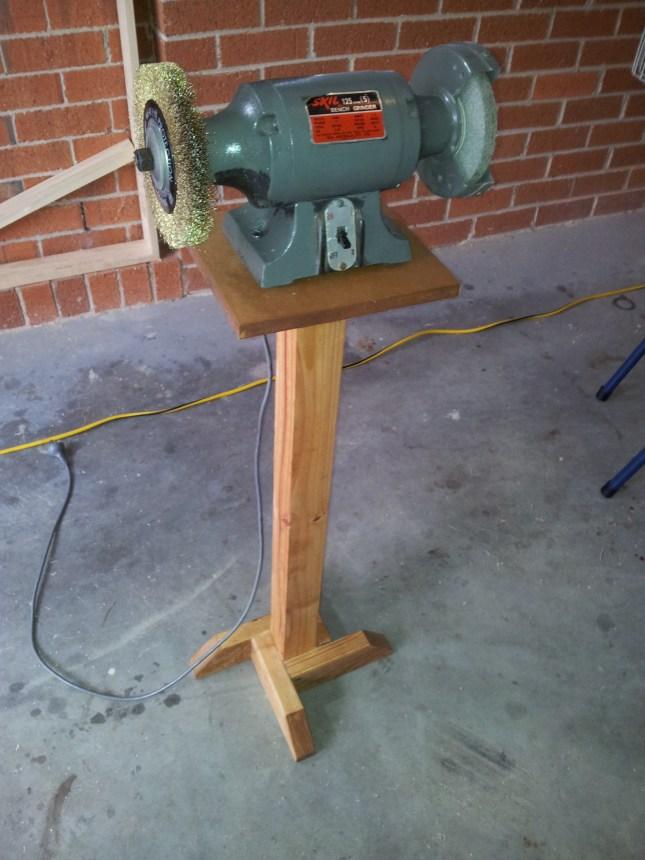 Wood Bench Grinder Stand Plans Able54ogr