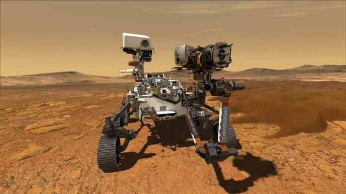NASA's Perseverance Drives On Mars' Surface For The First Time