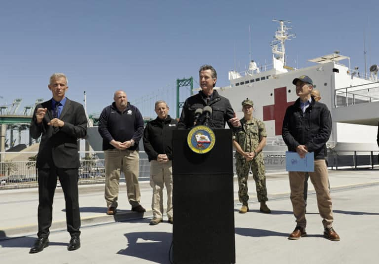 Newsom Shook Hands With Big Companies To Enforce Public Health System
