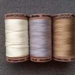 Bobinas hilo algodon egipcio Mettler patchwork