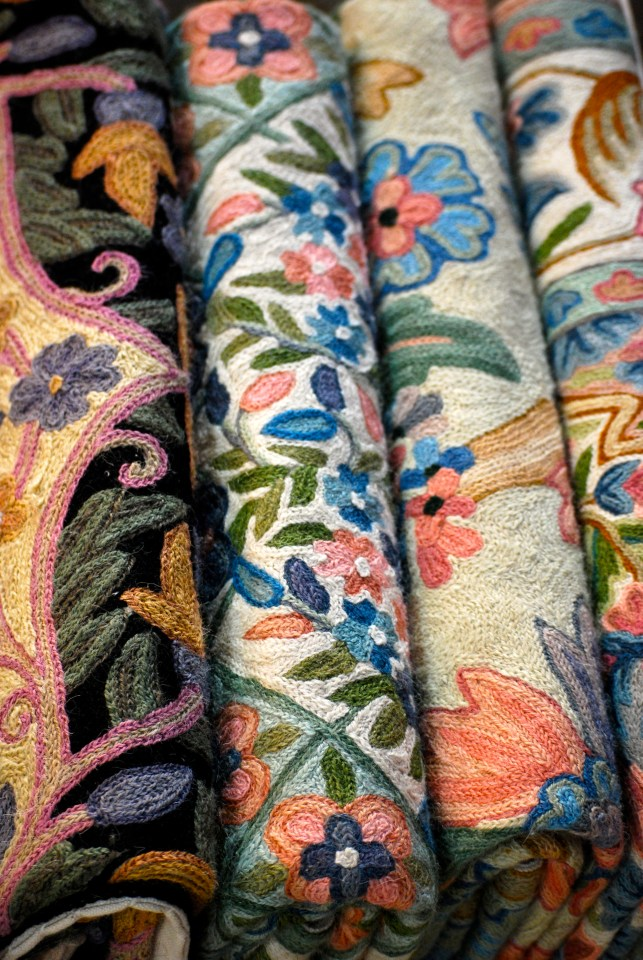 bolts of autumn fabric