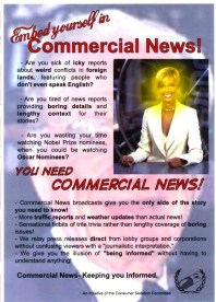 'Commercial News' leaflet by Bernie Slater, 2005.
