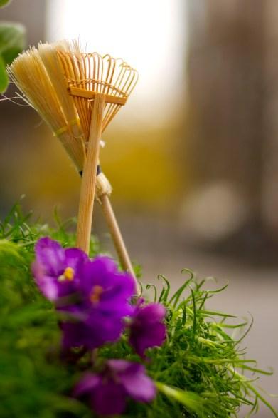 mini rake and broom