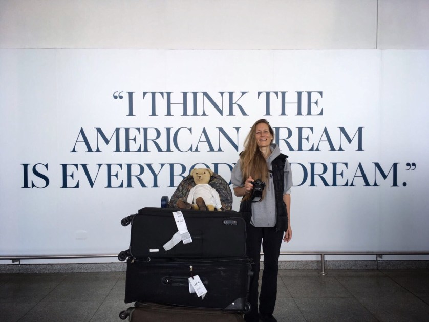Two Berliners arrive in JFK, New York, Image courtesy Undine Groeger