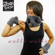 handmade knitted cowl and mittens