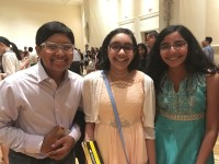 Alex, Shruthika, and I having fun at the dance party.