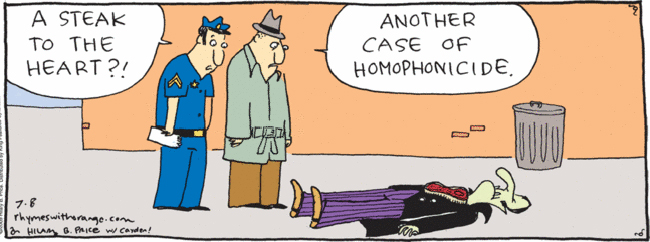 Homophone cartoon