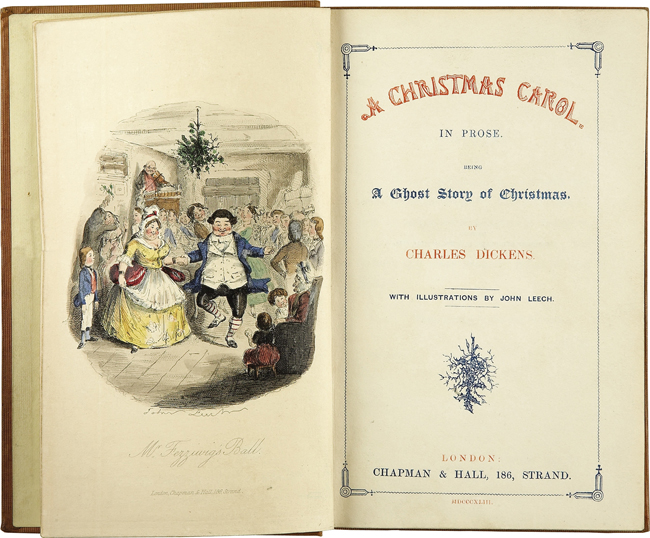 A Christmas Carol Title Page First Edition