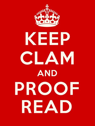 """Keep Clam and Proofread"