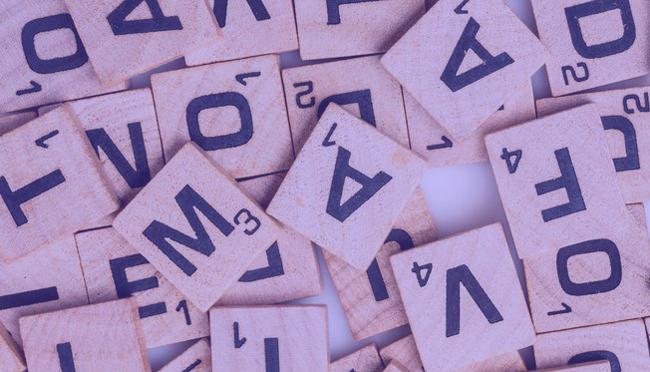 Scrambled Letter Tiles