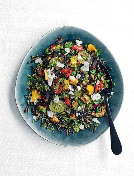 Emily Kydd's roasted vegetable pesto rice recipe