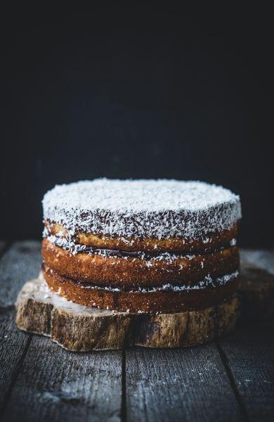 Izy Hossack's Boozy Mocha Coconut Layer Cake