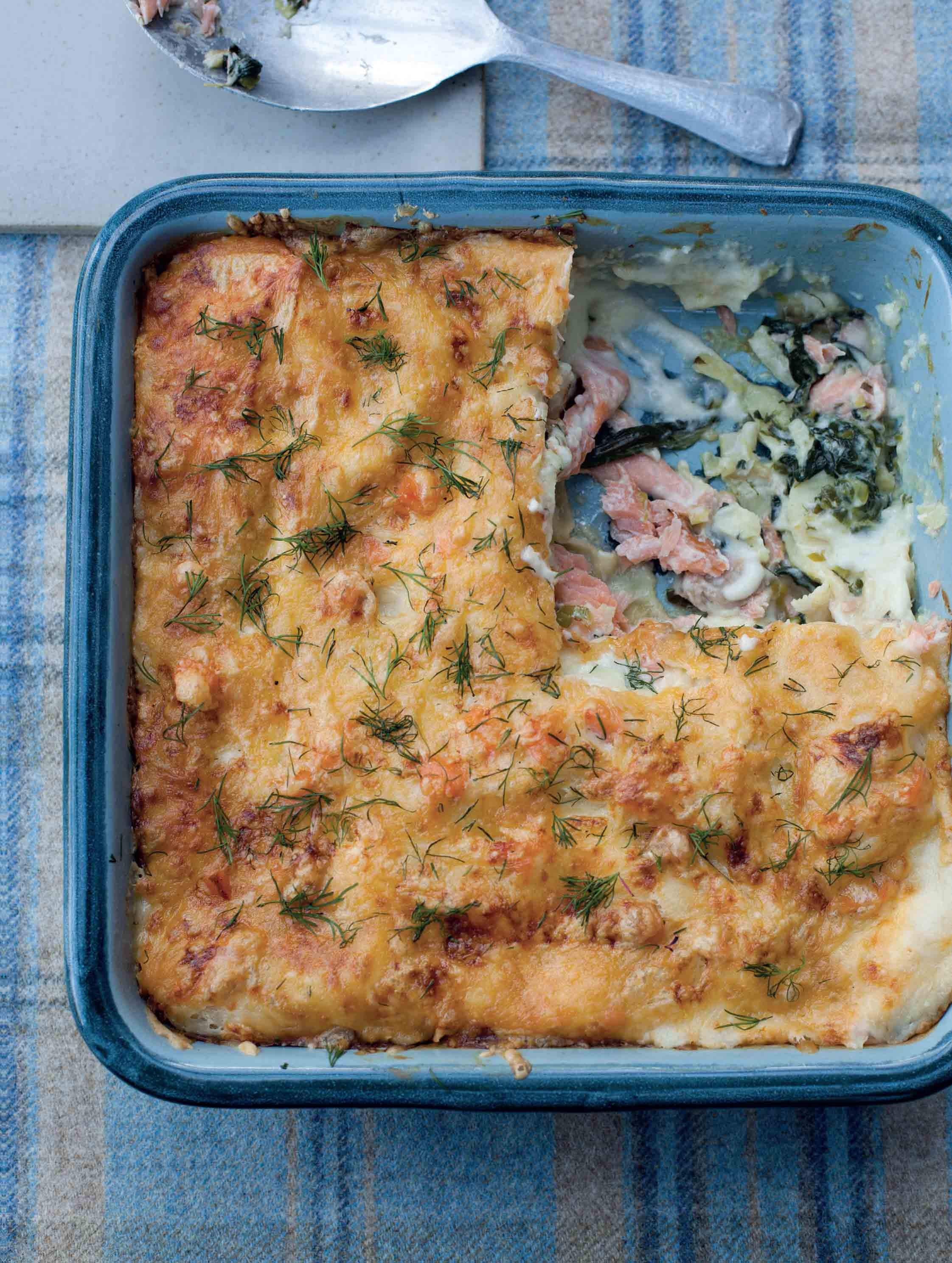 Tom Kitchin's Smoked Salmon & Spinach Lasagne