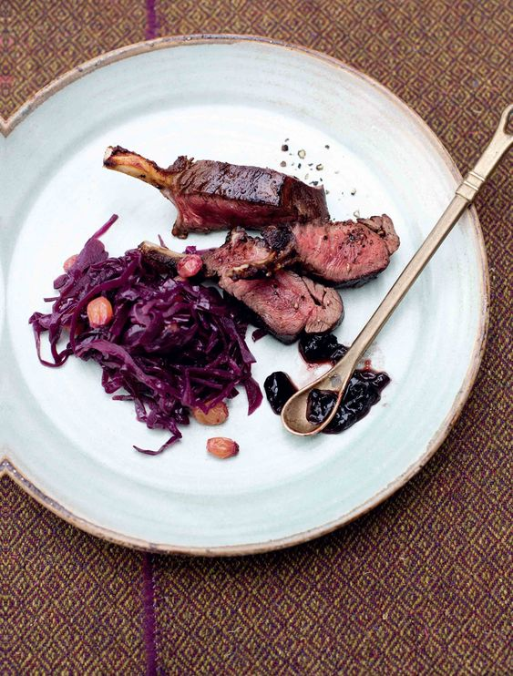 Tom Kitchin's Roasted Rack Of Venison With Spiced Red Cabbage