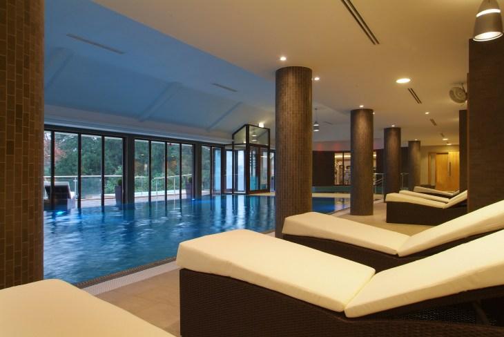 Armathwaite hall pool and loungers