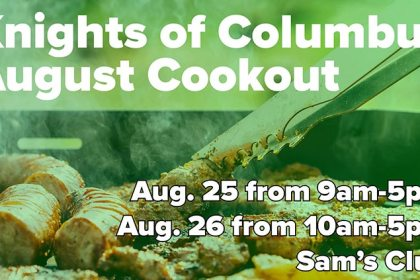 Knights of Columbus Cookout August 25-26