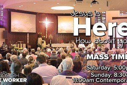 Mass Times Here at SJTW