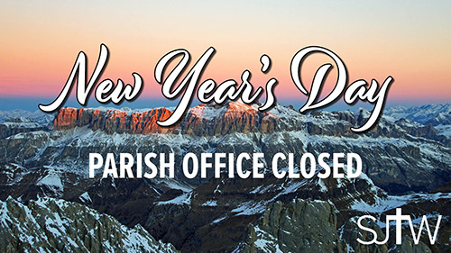 Parish Office Closed New Year's Day