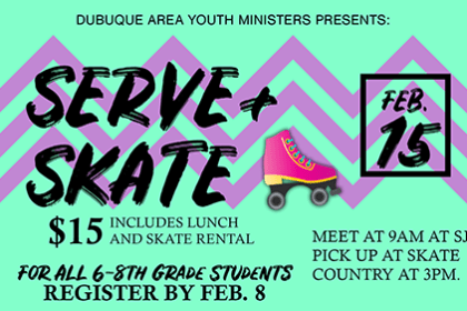 Serve and Skate Feb. 15