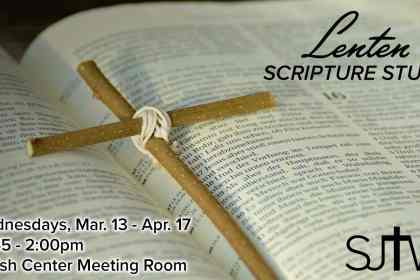 Lent Scripture Study Wednesdays at 12:45pm