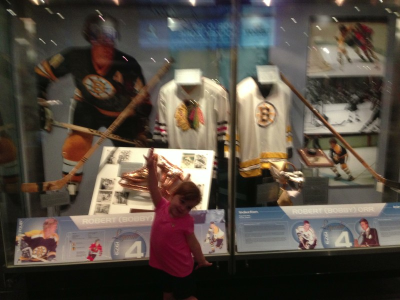 """""""Look, Daddy, it's Bobby Orr, one of Mommy's favorite players!"""""""