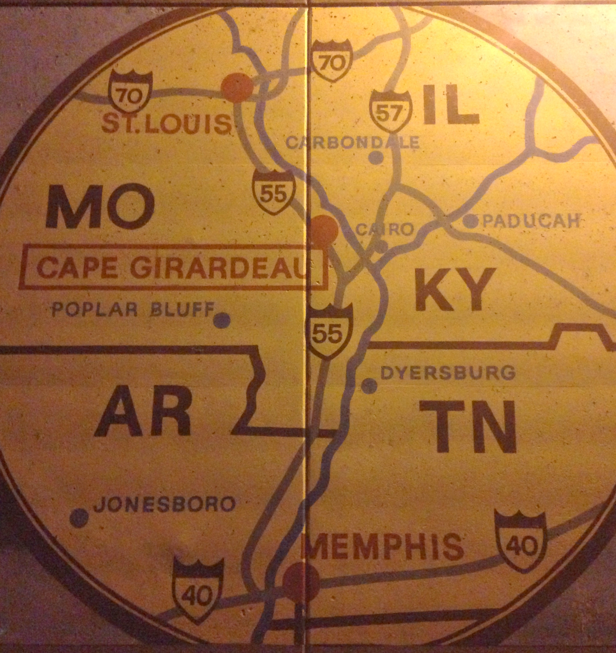 Part of another mural. In case you don't know where Cape Girardeau is.