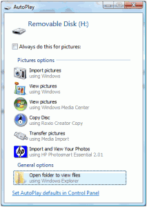 Import pictures from camera card windows vista