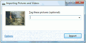 importing pictures from camera card windows vista