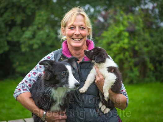 Agility handler, Denise Wilkinson with Tinker Tia and Chai