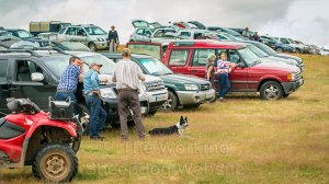 Cars and competitors at Bromsberrow Heath sheepdog trials