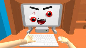 evil computer grins at me