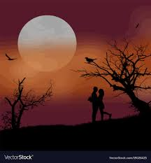 lovers in the moon light