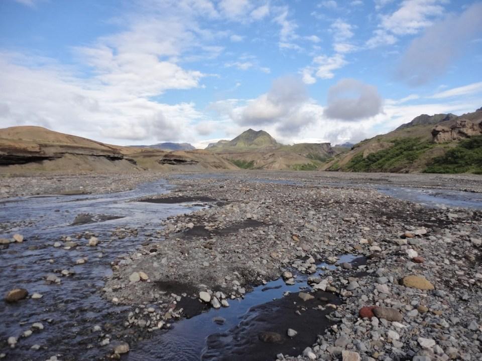 Laugavegur trail - river crossing