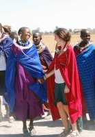 Dancing with Maasai Tribe