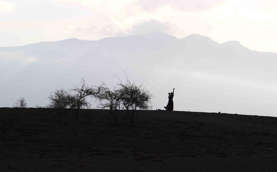 Maasai woman sillhoute
