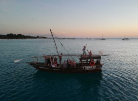 Sunset boat party Zanzibar