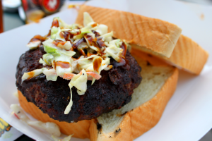 Yes, I know, you want this BBQ burger topped with coleslaw from Rub BBQ Pub.